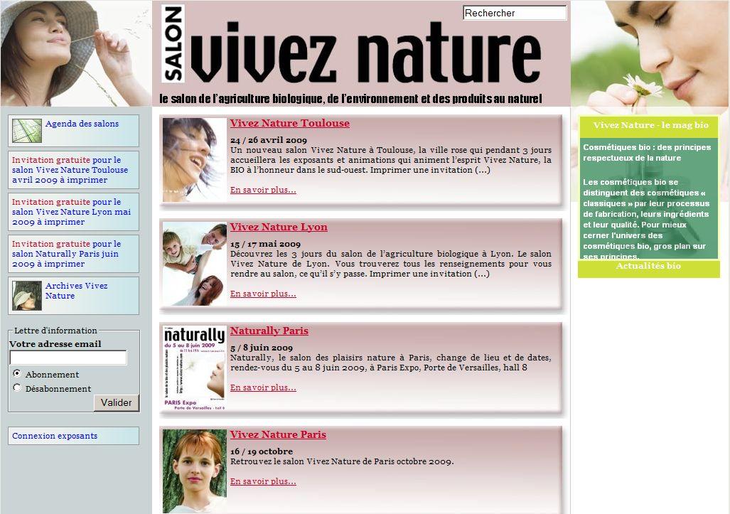 Vivez nature le salon de l 39 agriculture biologique for Salon vivez nature
