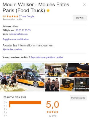 Moule Walker page Google Business